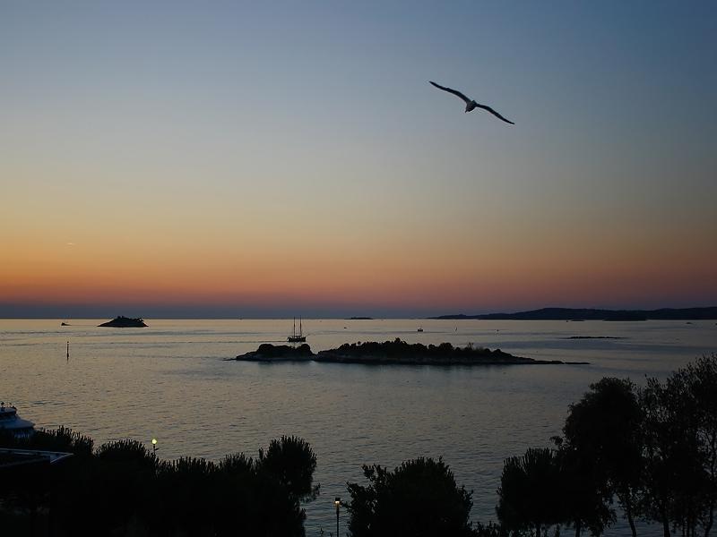 Закат, вид с балкона