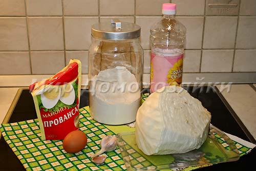 Ингредиенты для капустных оладьев