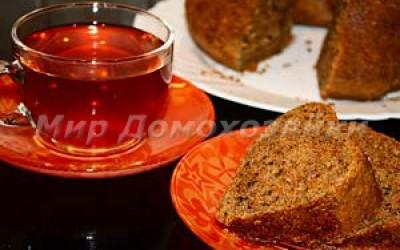 Морковный кекс - очень вкусно к чаю!
