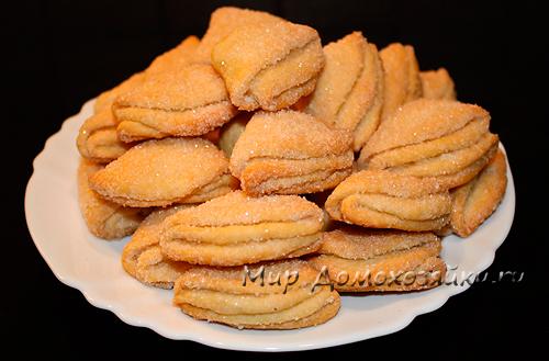 печенье гусиные лапки из творога рецепт