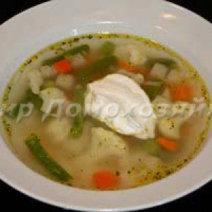 Суп из замороженных овощей
