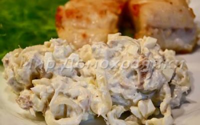 Салат из трески и лука