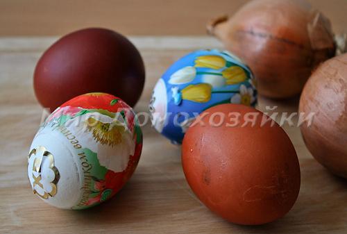 Можно использовать яйца, оставшиеся после Пасхи