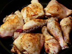Обжариваем курицу до корочки