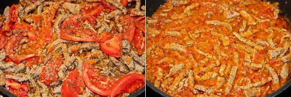 Добавить помидоры и тушить
