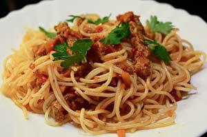 Соус для спагетти из бефстроганов