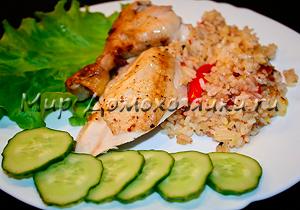 Курица фаршированная рисом