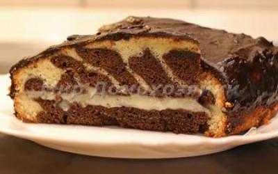 Как испечь торт зебра
