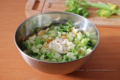 Салат с сельдереем я яблоком
