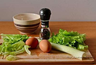 Ингредиенты для салата с сельдереем
