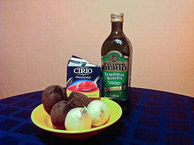 Ингредиенты для свекольной икры