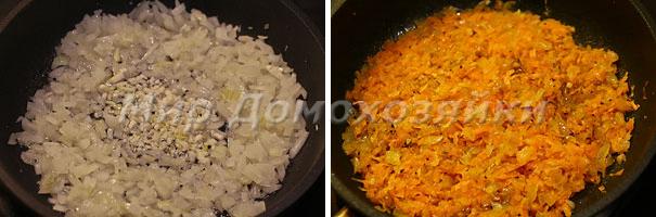 Зажарка для крем супа из брокколи