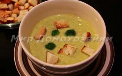 Крем-суп из брокколи со сливками