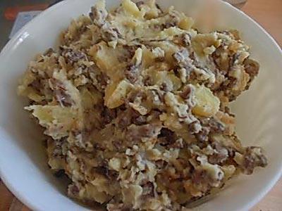 Начинка для пирожков из картошки и говяжьего легкого