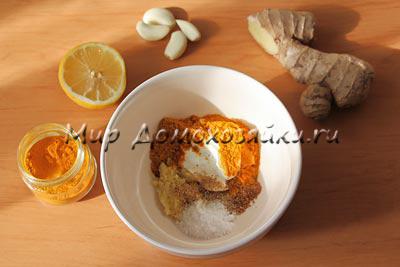 Ингредиенты для маринада для курицы