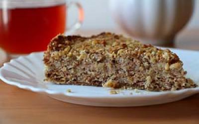 Яблочно-ореховый пирог без теста