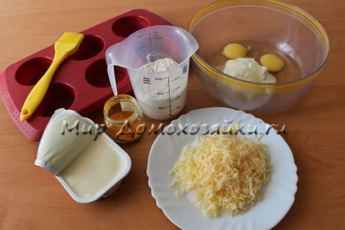Ингредиенты для сырных кексов
