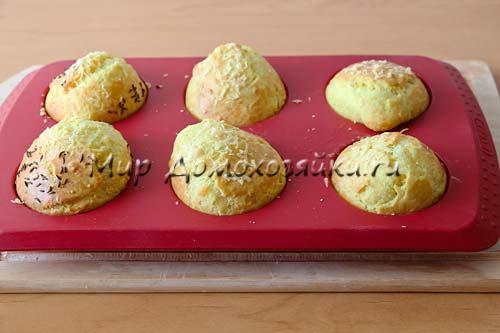 Ароматные сырные кексы готовы!