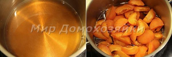 Готовим чатни из абрикосов в кастрюле с толстым дном