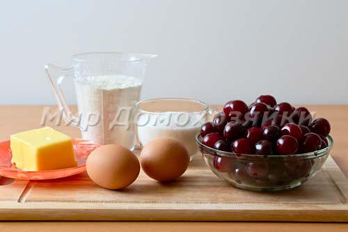 Ингредиенты для пирога с вишней