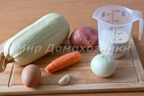 Ингредиенты для овощного торта