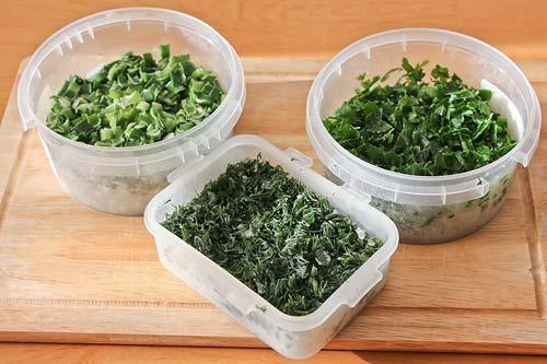 Замороженная зелень для супа