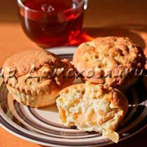 Кексы с яблоками - два варианта. Мини-шарлотка