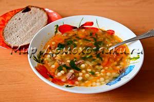 Суп с кускусом - рассольник