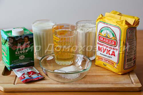 Ингредиенты для дрожжевого теста