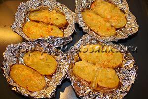 рецепт картофеля в фольге в духовке с фото