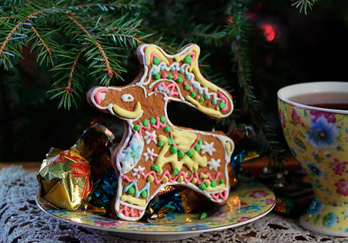 Рождественский пряник - олень - северные козули