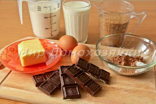 Ингредиенты для шоколадных кексиков