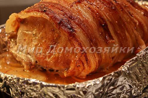 Свиной маринад в беконе готов!
