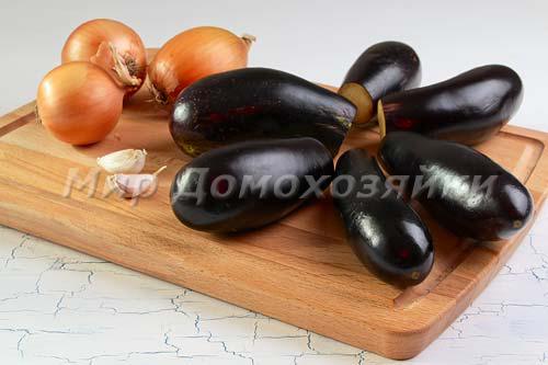 Ингредиенты для приготовления баклажанов в сметане