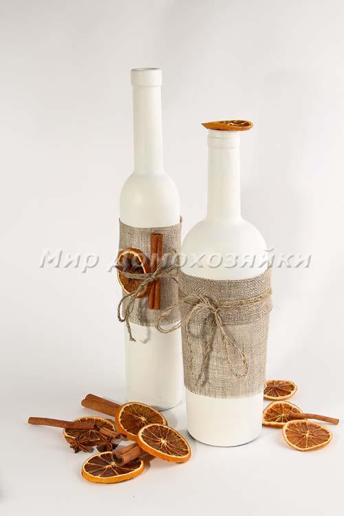Идеи новогодних подарков своими руками - вазы из бутылок