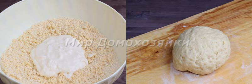 Сметанное тесто для капустного пирога