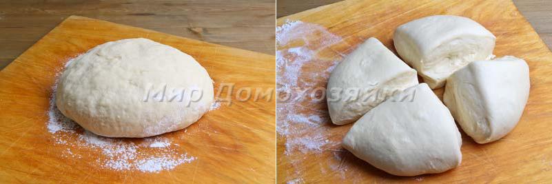 Замесить мягкое тесто для хачапури