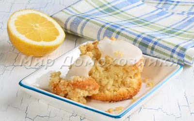 Лимонные кексы с хрустящей крошкой