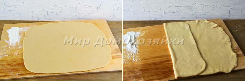 Быстрое слоеное тесто - раскатка