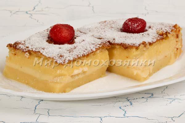 Десерт волшебный пирог готов!