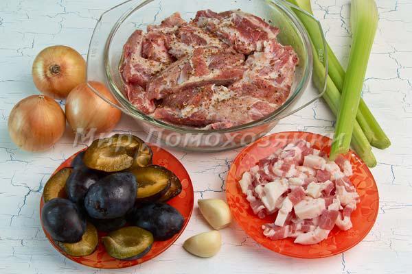 Свиные ребрышки - ингредиенты