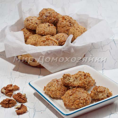 Ореховое печенье - сухое и рассыпчатое