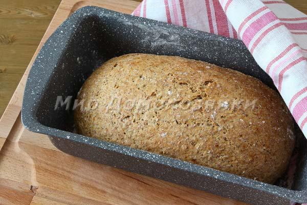Домашний хлеб с отрубями готов!