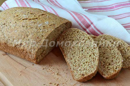 Домашних хлеб с отрубями на ряженке