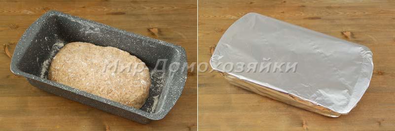 Домашний хлеб с отрубями - в форме