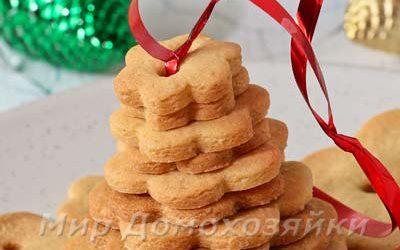 Новогодняя выпечка - ёлочка из простого печенья