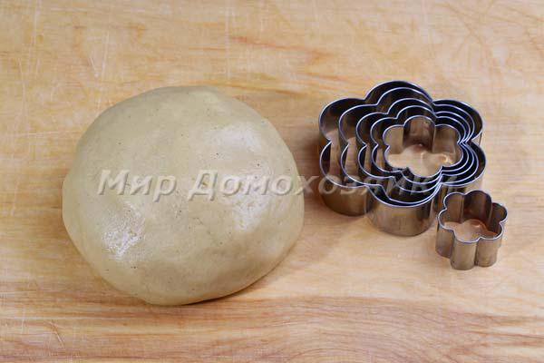 Тесто для простого печенья песочного