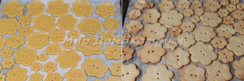 Новогодняя выпечка - простое песочное печенье