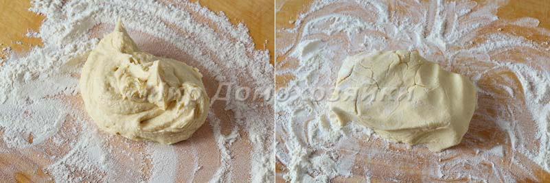 Песочное шоколадное печенье - работа с тестом