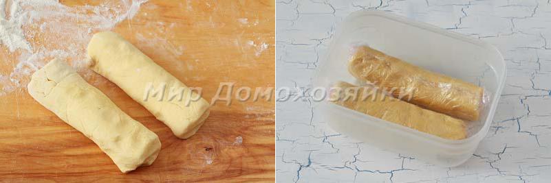 Печенье Спиральки - сформировать колбаски из теста